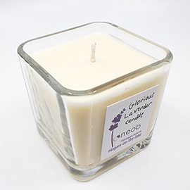 Glorious Lavender Square Candle