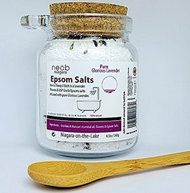 Lavender Epsom Salts Jar with scoop